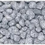 Hochbeet Stein Zierkies grau